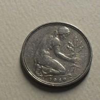 1969 - Allemagne - Germany - 50 PFENNIG, (F), KM 109.1 - [ 7] 1949-… : RFA - Rep. Fed. Alemana