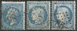 France - Napoleon III Et/ou Cérès - Oblitération Sur N° 22-60A-60B - GC 85 AMIENS (Somme) - 1849-1876: Classic Period