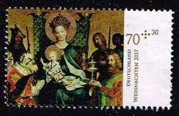 Bund 2017,Michel# 3340 O Weihnachten,mitt ESST - Used Stamps