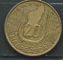 Madagascar 20 Francs 1953    - Pieb 23801 - Madagascar