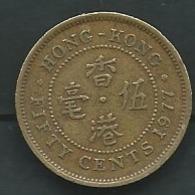 British HONG KONG , Elisabeth II: FIFTY CENTS , 1977 - Pieb 23803 - Hong Kong
