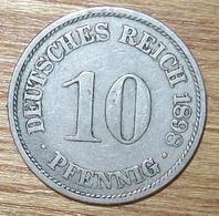 N°27 MONNAIE ALLEMANDE 10 PFENNIG 1898A - [ 2] 1871-1918 : Impero Tedesco