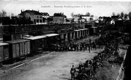 Lunéville, Exercice D'embarquement à La Gare. - Casernes