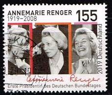 Bund 2019,Michel# 3499 O 100. Geburtstag Von Annemarie Renger - Gebraucht
