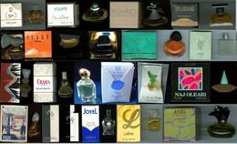 Très Bon Lot De 31 Miniatures De Parfums En Boite,  Pratiquement Toutes Pleines Sauf  2 (vide) ! - Oude Miniaturen (tot 1960)