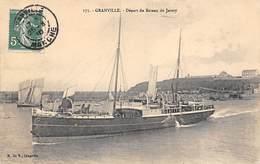 Granville     50      Départ Du Bateau De Jersey          (Voir Scan) - Granville