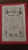 Vieux Papiers Moteurs A Vent H Soifranc Et Cie 1894 - Advertising