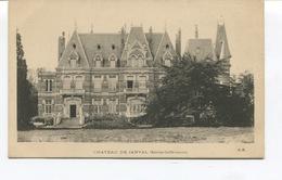 Rare CPA - JANVAL - Le Château  -  Dos Vierge -  Edit° G.M - - Dieppe