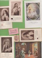 Lot CP, Images Religieuses, Prières, Majorité Basilique Ste Thérèse De L'Enfant-JESUS, Période PIE XI 1922-39 - Kirchen Und Klöster