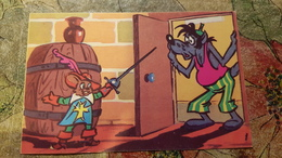 FENCER.  Fencing - Escrime - Fechten.  OLD Soviet Postcard 1980s - Humour Cartoon - Escrime