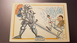 FENCING  Old Czech Humour Postcard 1980s - HUMOUR - Fencer  - Escrime - Escrime