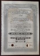 Action Societe Miniere De Surongo - Shareholdings