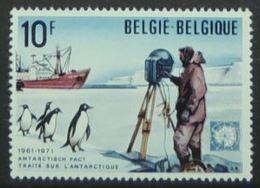 Timbre Traité Sur L'Antarctique, Bateau, Le Continent Antarctique (Antarctic Pact) - Tratado Antártico