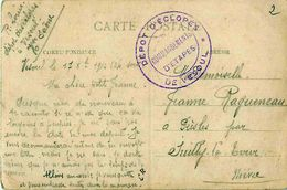 Cachet Dépôt D' Eclopés De VESOUL, Commandements D' Etapes Sur Cpa VESOUL Monument De Gérôme 1914 - Marcophilie (Lettres)
