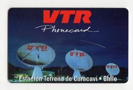 CHILI  Recharge VTR ESTACION TERRENA DE CURACAVI DATE 1996 - Chile