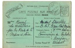 B3  14 07 1940 Carte F.M D'un Soldat  De La Commission De Controle  à Roujan Dans L'Hérault - Guerre De 1939-45