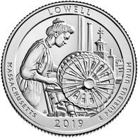 USA, 2019 Lowell National Historical Park, 25 C Coin (D) - Federal Issues