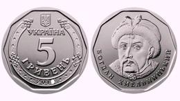 Ukraine, Bogdan Khmelnitsky 2019, 5 Gr Grivny, 1 Coin - Ucrania
