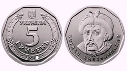 Ukraine, Bogdan Khmelnitsky 2019, 5 Gr Grivny, 1 Coin - Ucraina