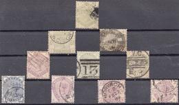 Grossbritannien > 1840-1901 (Viktoria) >Kleines Lot Mi.Nr:72-81 Gestempelt - Used Stamps