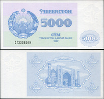 Uzbekistan 5000 Som. 1992 (1993) AUnc. Banknote Cat# P.71a - Oezbekistan