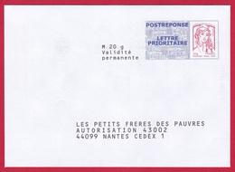 5055 PAP – Post Réponse Marianne De Cappa Et Kawena – Les Petits Frères Des Pauvres – 15P179 (5055) - Prêts-à-poster: Réponse /Ciappa-Kavena