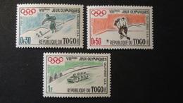 Togo - 1960 - Mi:TG 276-278 Sn:TG 369-371 Yt:TG 300-302**MNH - Look Scan - Invierno 1960: Squaw Valley