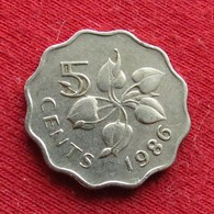 Swaziland 5 Cents 1986 KM# 40.1 Swasiland Swazilandia Suazilandia - Swaziland