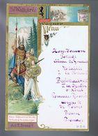 Menu Compagnie Liebig - Chromo - Die Walküre - La Walkirie - Richard Wagner - Ecusson Leipsig - A Gift To The Guests - Liebig