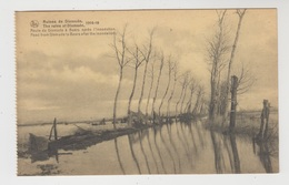 Dixmude  Diksmuide  1914-18  Route De Dixmude à Beers Après L'inondation - Diksmuide