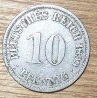 N°45 MONNAIE ALLEMANDE 10 PFENNIG 1899A - [ 2] 1871-1918 : Impero Tedesco
