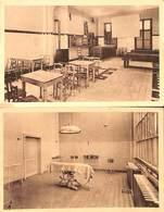 Lot 2 Cartes Hôpital Militaire (salle D'opération Et Cantine,  Salle De Cinéma) - Salute, Ospedali