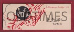 "GERMANY - "" PACIFIC "" - PERFUME LABEL - DR. ALBERSHEIM - FRANKFURT - 1940 - Etiquettes"