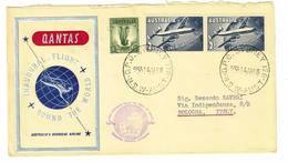 Australia - Volo Inaugurale Intorno Al Mondo - Qantas Anno 1958 - 1952-65 Elizabeth II : Pre-Decimals