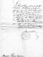 """MILITAIRE -- """"Promotion ,(d'un Emploi De Capitaine Au 2ème Régiment De Marche De Zouaves à AVIGNON)- - Documents Historiques"""