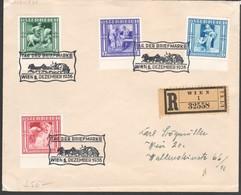 """Österreich 1936: Einschreibebrief Kpl.Satz """"WINTERHILFE (3)"""" Mit SStpl. (s.Foto) - Cartas"""