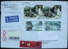 2015 Slovakia Slovensko Certificated Circulated Cover To Montevideo Uruguay Water Eau Agua River Rio - Slowakische Republik