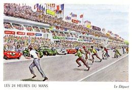 Les 24 Heures Du Mans - Le Départ   - Dessin Par Aldé - Carte Postale - Le Mans