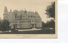 Rare CPA - JANVAL - Le Château Facade Ouest -  Dos Vierge -  Edit° G.M - - Dieppe