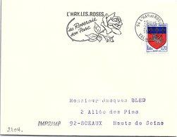 FLEURS FLORALIE - L'HAY LES ROSES - SA ROSERAIE SON PARC - 28.9.1967 / 2 - Gedenkstempel