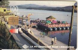BOSNIA - Jezero Modrac/Lukavac(100 Units), Used - Bosnië