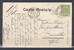Postkaart Van Cappelle Au Bois Naar Bruxelles - 1893-1907 Armoiries