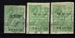 Belg. 3 Fiscale Zegels 10c. / 3 Timbres Fiscaux 10 C. - Steuermarken