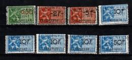 Belg. 8 Fiscale Zegels / 8 Timbres Fiscaux J. Linden Fils Verviers 1941 - Revenue Stamps