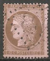 France - Napoleon III Et/ou Cérès - Oblitération Sur N° 58 - GC 153 ARGENTAN (Orne) - Marcophilie (Timbres Détachés)
