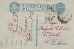 Italien Postkarte Posta Militare Zensur 1940-45 - Afgestempeld