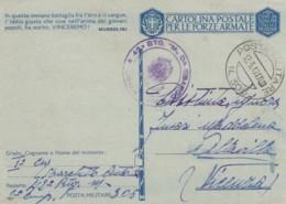 Italien Postkarte Posta Militare Zensur 1940-45 Tekst Musolini - Afgestempeld