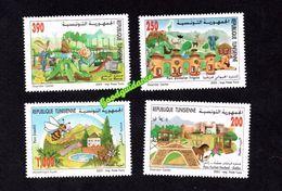 2003- Tunisia- Tunisie- Parcs In Tunisia- Bee- Horse- Abeille- Cheval - Animals- Animaux- Complete Set 4v.MNH** - Tunisia