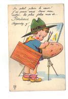 CPA 33 BORDEAUX Carte à Système Fantaisie Dépliant Petit Garçon Peintre Tableau 1939 Pas Courante - Bordeaux