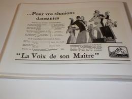 ANCIENNE PUBLICITE POUR VOS REUNIONS DANSANTES  GRAMOPHONE PATHE 1931 - Other